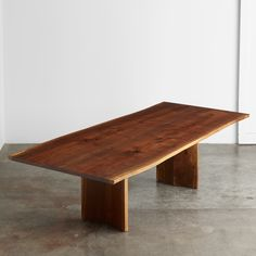 A walnut book matched tabletop with a one of a kind walnut chevron base. We salvaged this tree in Seattle. Wood Slab Table, Walnut Dining Table, Dining Room Table, Hardwood, Sustainable Furniture, Boat House, Contemporary, Artisan, Tables