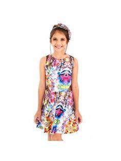 Esse vestidinho deixa qualquer dia ainda mais colorido! www.lojaspicy.com.br