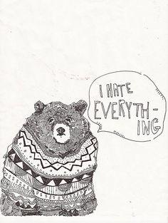 statement bear, by meredith bardo.