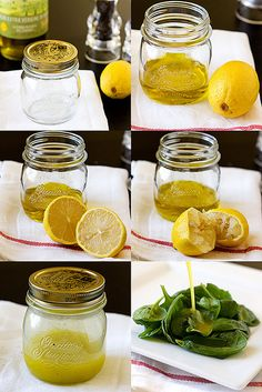 Lemony Dressing by handleheat, via Flickr    (Remember: 3 parts oil per one part acid like vinegar or lemon)