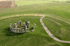 Aerial view of Stonehenge in Wiltshire, UK In 2008 archaeologists found cremated remains that suggest that the prehistoric monument Stonehenge, in County Wilshire, could have served as a burial ground as early as 3000 B.C.    Read more: http://www.time.com/time/specials/packages/article/0,28804,2112644_2112566_2112562,00.html #ixzz1u9qylVka