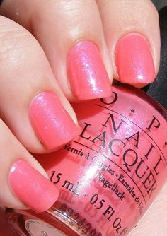 OPI ~ 'Pink Cupcake' Glittery Peachy Pink Nail Color •:::::•..