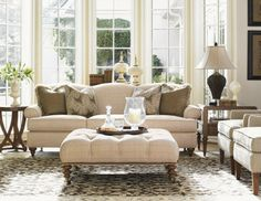 Elegantly Appointed - Sophisticated Furniture Designs on Joss and Main. like the ottoman, neutral sofa