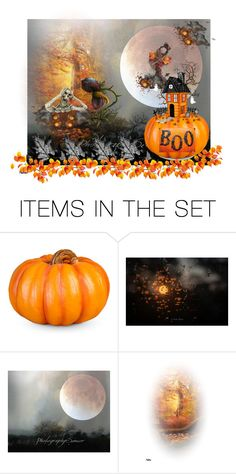 """BOO"" by sabine-713 ❤ liked on Polyvore featuring art, Halloween, Halloweenparty, integrityTT, EtsySpecialT and promobine"