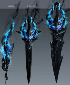 the effect that comes off these weapons feels like it could be used as a high level dark magic item