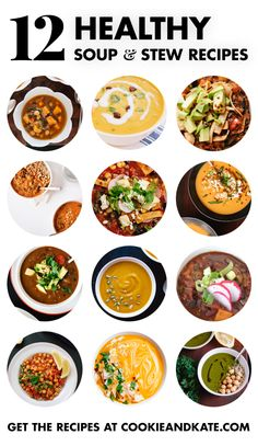 Find 12 healthy, filling vegetarian soup recipes - cookieandkate.com (scheduled via http://www.tailwindapp.com?utm_source=pinterest&utm_medium=twpin&utm_content=post535297&utm_campaign=scheduler_attribution)