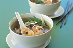 Aromatic Asian flavours are easy to reproduce at home with this simple chicken soup.