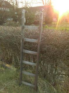 Oude Brocante Schilderstrap Ladder 170 cm