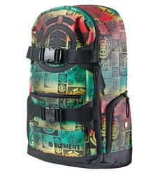 Element Mohave Logoline Backpack (Rasta) Longboarding 5042fd4572388
