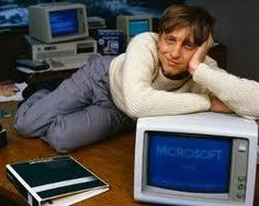 A young Bill Gates, this man is a great millionaire who gives to other people! Go William!