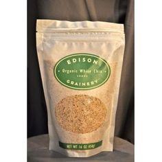 Organic White Chia Seeds (US Re-Cleaned)  $9.25 16oz.