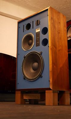 JBL 4344 monitor speakers. Maximized when they  are driven by multi-amping system.