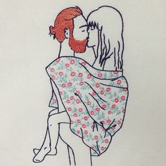 Beijo, ruivo e cobertor: não tem como essa combinação dar errado  {bordado de 25cm, R$ 200, tiragem única, vendido} #loveporn #umapiracomruivos #asbordadeiraspiram