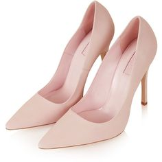 TOPSHOP GALLOP Nubuck Court Shoes ($30) ❤ liked on Polyvore featuring shoes, pumps, heels, sapatos, pink, topshop, pointy-toe pumps, pink shoes, pointy toe shoes and pink pointed toe pumps