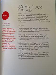 Joe Wicks Asian Duck Salad Asparagus, Broccoli, Pinch Of Nom, Lean In 15, Meat Packing, Joe Wicks, New Year New Me, Foodies, Nom Nom