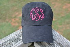 Hey, I found this really awesome Etsy listing at https://www.etsy.com/listing/202098514/monogram-baseball-cap-made-to-order