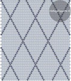 custom-rectangle-felt ball rug-with-dot pattern