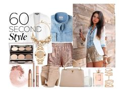 """""""60 second style:Daytime sequins"""" by meliki ❤ liked on Polyvore featuring Jaded London, MANGO, Topshop, Repossi, Movado, Chinese Laundry, NARS Cosmetics, Louis Vuitton, Essie and The Limited"""
