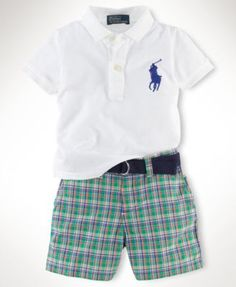 Ralph Lauren Baby Set, Baby Boys Mesh Short Set