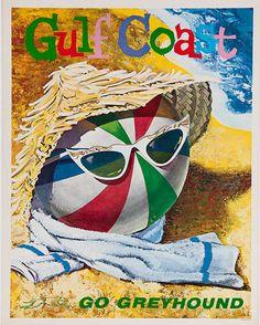Gulf Coast ~ Go Greyhound ~ 1960s