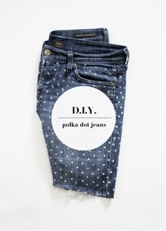 polka dotted denim DIY