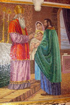 San Francisco - North Beach: Saints Peter and Paul Church - East Wall Shrine - The Presentation of Jesus in the Temple