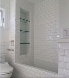 3 Engaging Hacks: Small Shower Remodel Bathroom Updates bath to shower remodel.Small Shower Remodeling Before And After shower remodel ideas.Bathroom Shower Remodeling Before And After. Tile Shower Shelf, Shower Niche, Shower Tub, Shower Tiles, Bathtub Shelf, Small Bathtub, Master Shower, Large Shower, Bathroom Showers