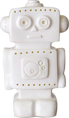 Leklyckan Bordslampa Robot, Vit