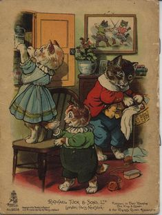THE THREE LITTLE KITTENS - Artist: G.H.T. (Thompson)