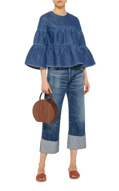 Tiered Denim Top by CO Now Available on Moda Operandi