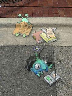 Arte callejero de David Zinn