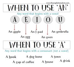 English grammar, using 'a' and 'and'