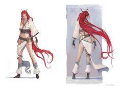 Heavenly Sword Character Concept Art: Nariko