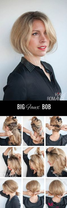 FAUX BOB HAIRSTYLE TUTORIAL for LONG HAIR