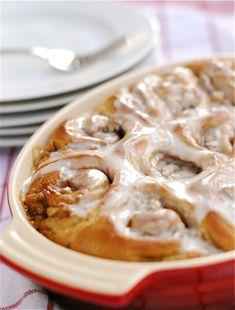Cinnamon-Pecan Rolls with Vanilla Bean Glaze on @Aimee | Simple Bites!