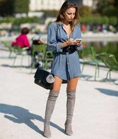 look-over-the-knee-cinza-chemise-azul