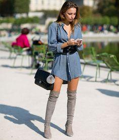 look-over-the-knee-cinza-chemise-azul