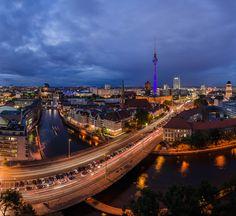 Berlin, Skyline, Festival of Lights, Panorama, 2012