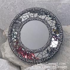 Smoked Mirror Mosaic Mirror, Round Mosaic Mirror, Home Decor