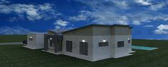 4 Bedroom House Plan - My Building Plans South Africa My Building, Building Plans, House Plans South Africa, 4 Bedroom House Plans, Double Garage, Modern House Design, Mj, How To Plan, Mansions