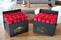 Medium Luxe Celine Box - luxury flowers in a box... located in Chicago but with nationwide delivery.