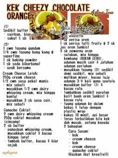 Kek cheezy chocolate orange (Kek Harimau Malaya)