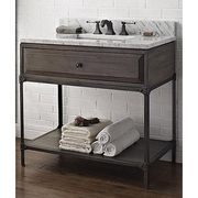 "Fairmont Designs 36"" Toledo Open Shelf Vanity - Driftwood Gray"