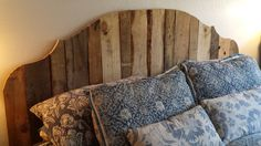 California King Pallet Wood Headboard - Distressed Paint