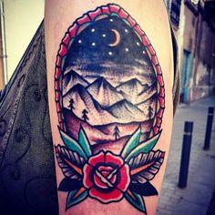 #landscape #tattoo #ink #inked #tattoos #barcelona #tatuaje