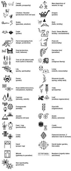 Persian Carpet Symbols - Carpet Vidalondon
