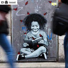 https://flic.kr/p/TeJXDX | #Repost @lesset ・・・ #streetgenerations hors les murs de @laconditionpublique et sur les murs de #Roubaix. Par @jefaerosol. #streetart #jeffaerosol #jefaerosol #laconditionpublique #roubaix #pochoir #stencil #arturbain #streetgenerations #magdadanysz #lire