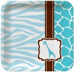Wild Safari Blue Baby Shower Square 7-Inch Paper Plates 8 Per Pack by Creative Converting, http://www.amazon.com/dp/B004Z1ZYBK/ref=cm_sw_r_pi_dp_ilnnrb05FG7JD