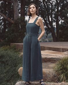 "3a870758dc búl on Instagram  ""The Pipi Onesie is a soft and breathable 100% linen  jumpsuit with long wide pants and statement belt   Shop new season  Raglan   in…"""