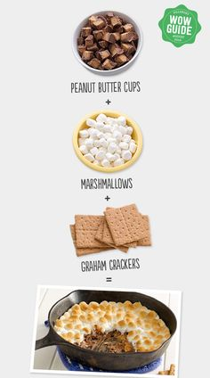 Peanut Cup S'mores Dip! Nothing could be better than this easy skillet dip!